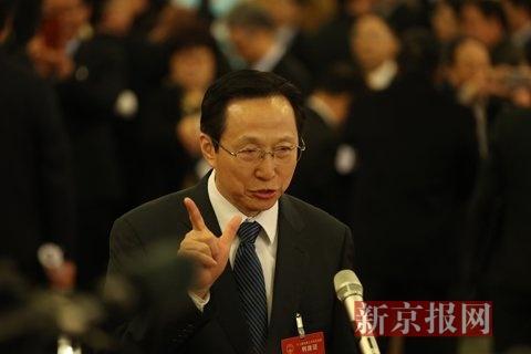 农业部长韩长赋。新京报记者 陈杰 摄