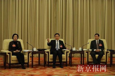 上海市委书记韩正发言。新京报首席记者 陈杰 摄