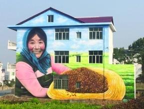 3D壁画现身上饶县三联村:民房变画布创意十足