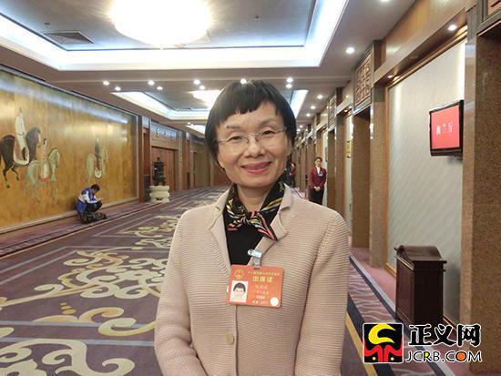 全国人大代表、华南农业大学教授、博士生导师陈瑞爱。谢文英 摄