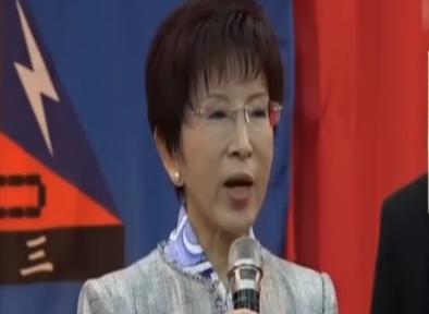洪秀柱:台湾出现奇怪思想 竟不能说自己是中国人