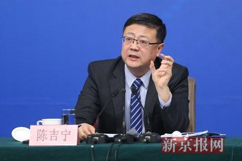 环保部部长陈吉宁。新京报记者 薛�B 摄
