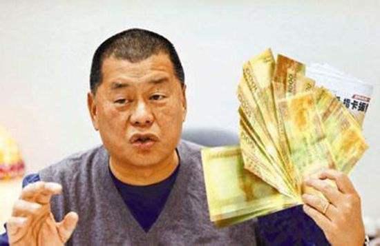 资料图:香港壹传媒前主席黎智英