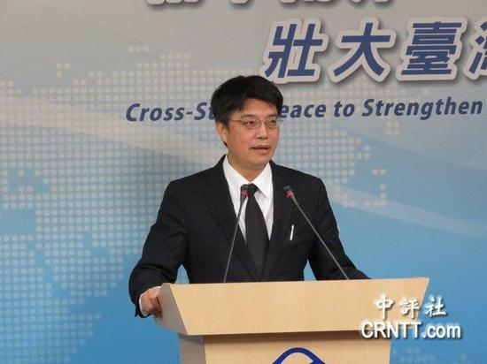 台湾陆委会发言人邱垂正(图片来源:中评社)