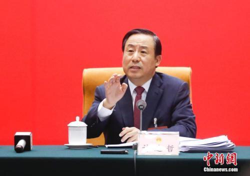 3月9日,十二届全国人大五次会议湖南代表团全体会议上,湖南省长许达哲回应了湖南娄底煤矿爆炸瞒报死亡人数事件。中新社记者 杜洋 摄
