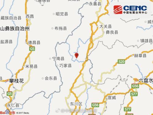 1个多月鲁甸连发2次4级以上地震 云南