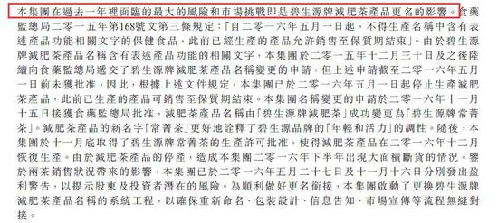 ▲图片来源:碧生源2016年年报