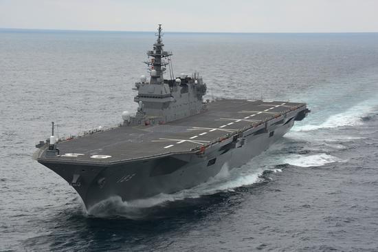 """日本""""出云号""""在南海航行。资料图"""