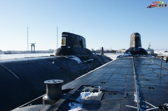 """鲨鱼级核潜艇,又称阿库拉级核潜艇,它是前苏联海军继""""O""""级核潜艇之后建造的第四代攻击核潜艇"""