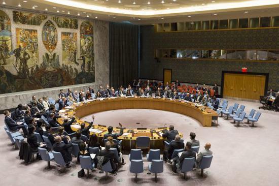 資料圖:在位於紐約的聯合國總部,聯合國安理會正在進行表決。 新華社記者李木子攝