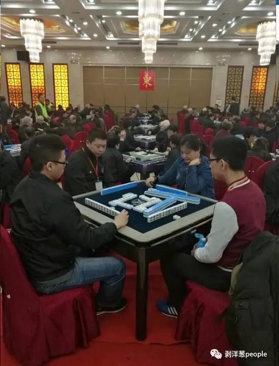 第十八屆中國麻將牌王賽暨大師賽的比賽現場。新京報記者楊靜茹 攝