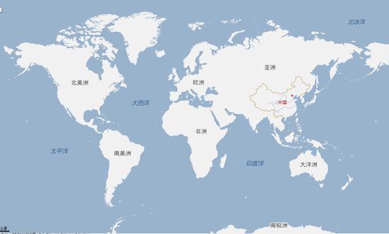 美国一学校改用新版世界地图:改500年来世界观