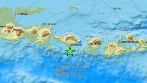 巴厘岛海域发生6.4级地震 震感强未引发海啸