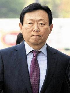 韩国乐天集团会长辛东彬。资料图