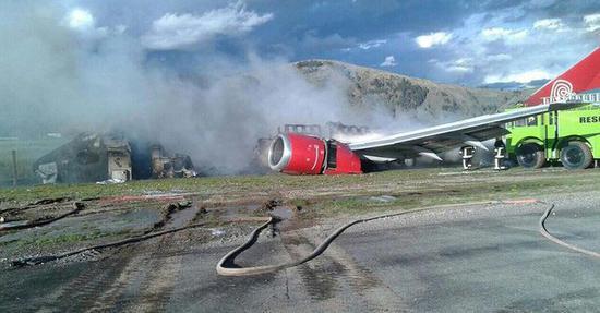 载141人客机在秘鲁着陆时起火 暂无人员伤亡