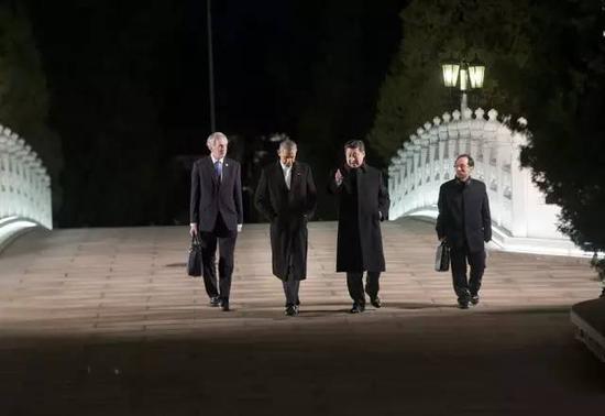 2014年11月11日,习近平同奥巴马在中南海会晤。