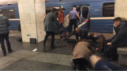 地铁爆炸现场