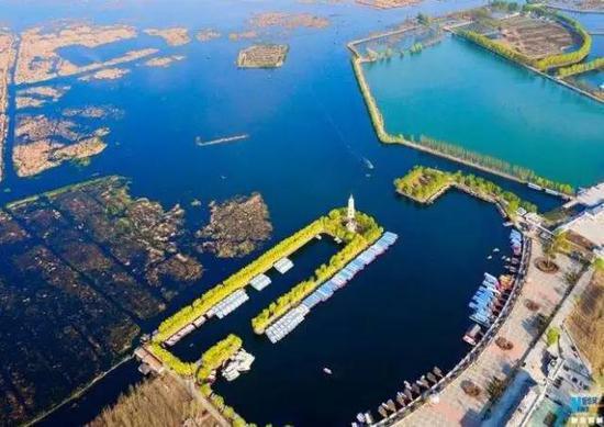 雄安三县航拍图 图片来自新华网
