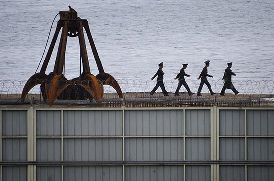 朝鲜煤炭码头 资料图