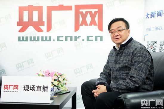 《人民的名义》导演兼总制片人李路接受央广网记者专访央广网记者石昊鑫摄