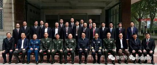 前排左起第六为张又侠,左起第八为马伟明