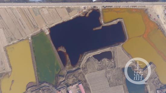 天津市静海县佟家庄村以东的污水渗坑