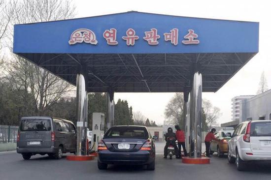 平壤的加油站(美联社)