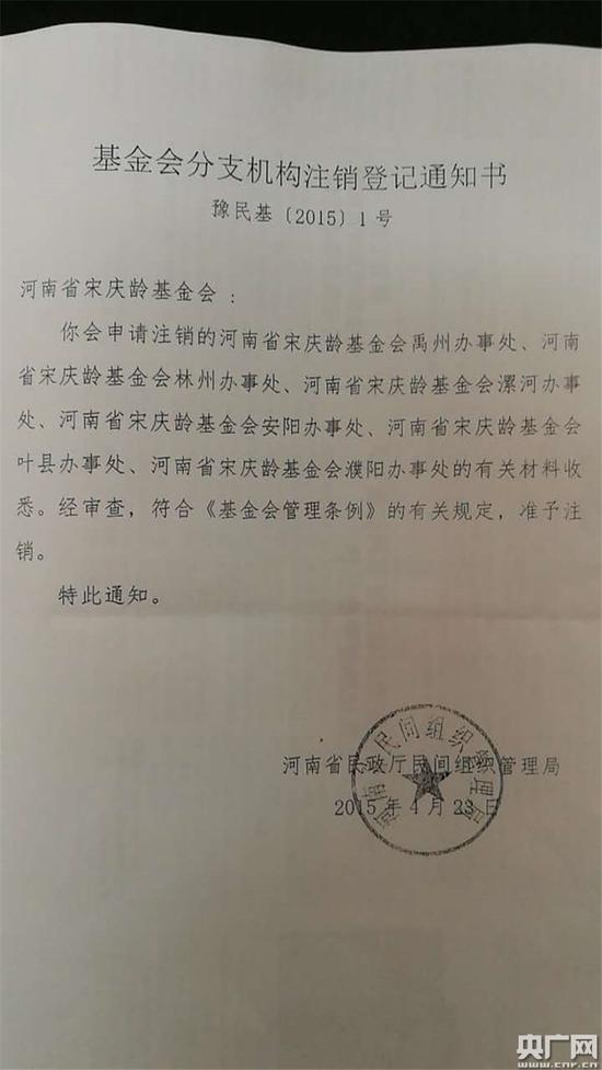 河南省宋庆龄基金会叶县办事处在2019-03-20注销