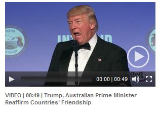 五角大楼网站放出了一个会面时期的短视频,特朗普和澳总理多次重申美澳友谊