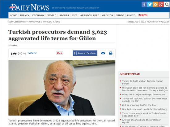 土耳其《自由报》报道截图