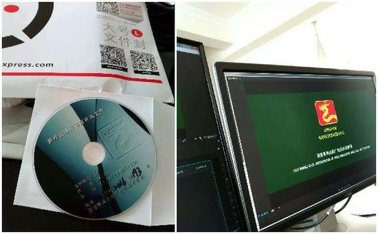 图片说明:《翩翩起舞的姑娘》影片公映许可证片头文件朱航供图