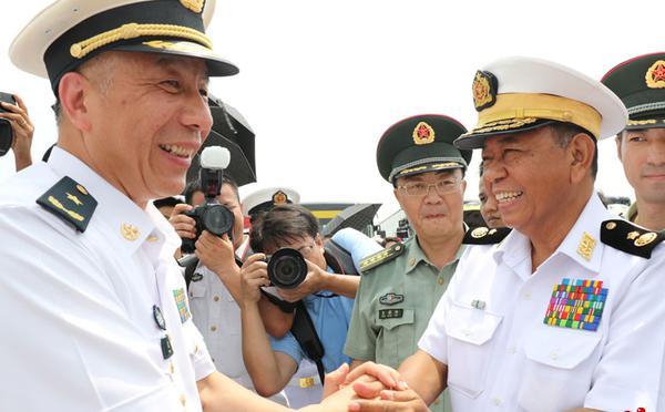 中国海军远航访问编队结束对缅甸访问