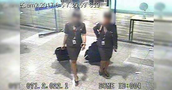 涉嫌走私金块的两名越南籍空姐