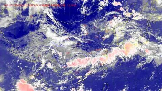 6月24日14时30分卫星云图