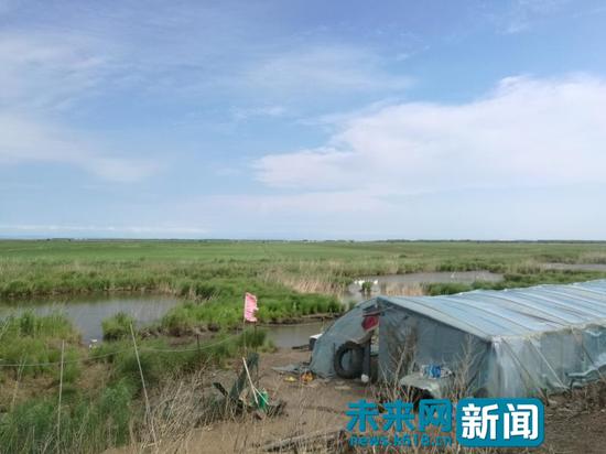 刘静向记者反映,该保护区核心地区还存在使用地笼非法捕鱼、非法养殖的情况。(图片由受访者提供)