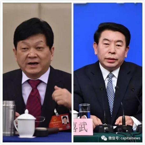 虞海燕(左)、张喜武