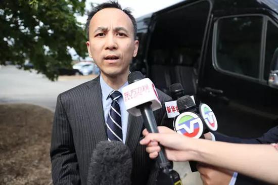 中国驻芝加哥副总领事刘军。新华社记者汪平摄