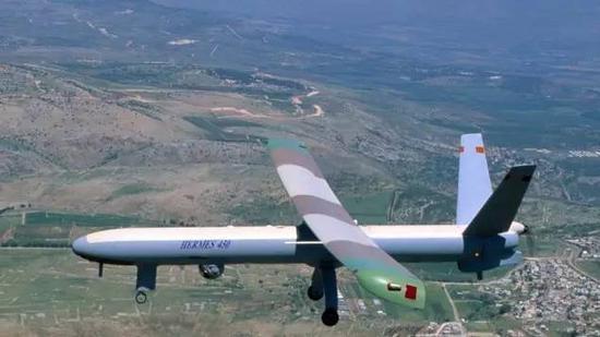 ▲以色列空军Hermes 450 UAV无人机