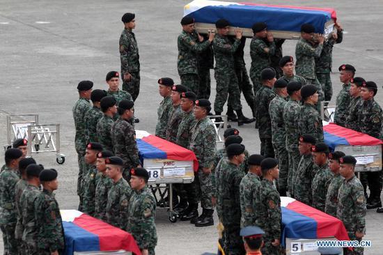 资料图:菲律宾反恐行动44名特警牺牲