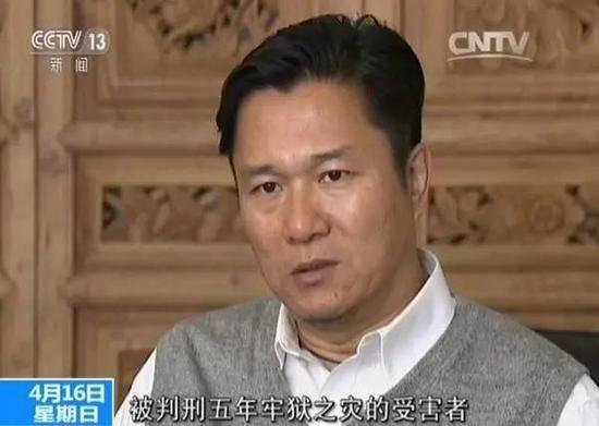 郭利被判无罪后接受媒体采访。