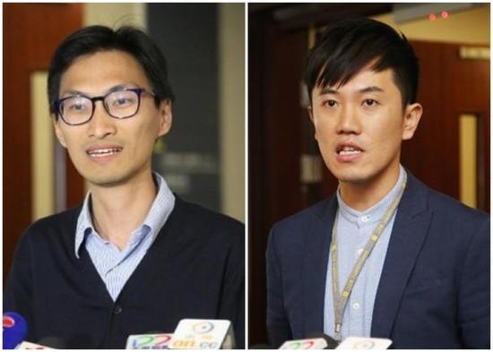 """朱凯迪(左)与郑松泰(右)(图片来源:东网"""")"""
