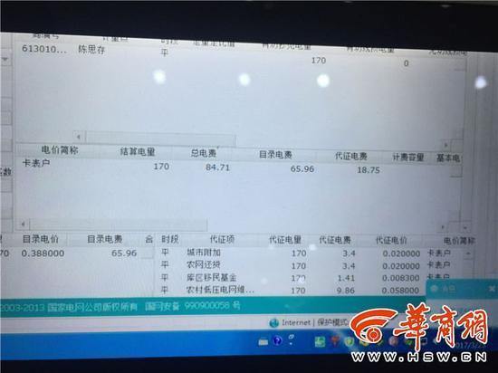 陕西居民用电费用构成图