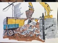 北京警官手绘画册记录环境整治
