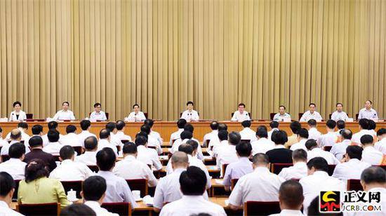 7月18日至19日,第八次天下信访事情集会在北京召开。中共中央政治局委员、中央政法委书记孟建柱出席集会并讲话。郝帆 摄