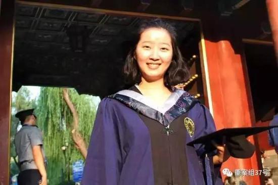 ▲失踪女留学生章莹颖。  家属提供寻人资料图
