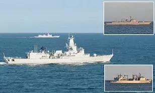 ▲中国海军的三艘军舰