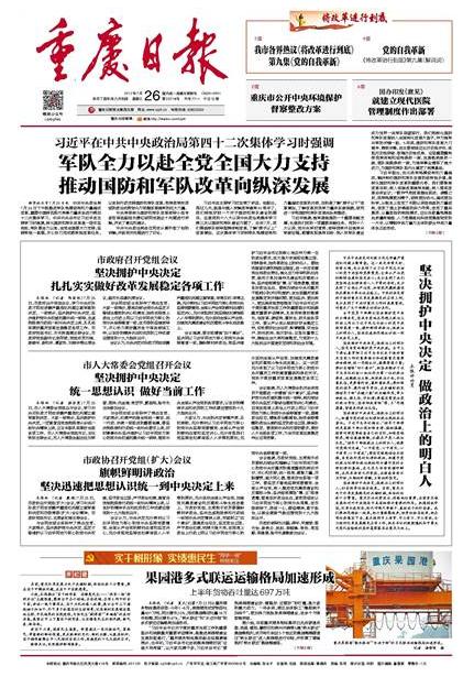 重庆日报头版