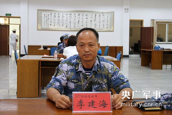 李建海接受央广军事记者采访。杨宸琇摄