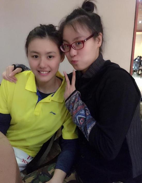 刘湘跟傅园慧。