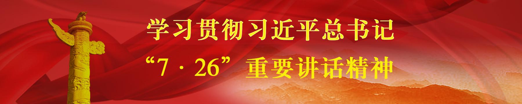 """学习贯彻习近平""""7·26""""重要讲话精神"""